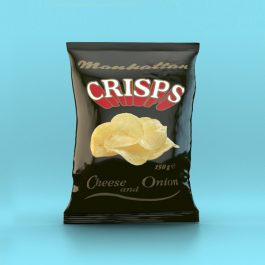 Manhattan Cheese and Onion Crisps - 12 x 150g packets