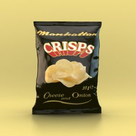 Manhattan Cheese and Onion Crisps - 48 x 35g packets