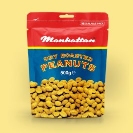 Manhattan 500g Dry Roasted Peanuts