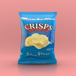 Manhattan Salt and Vinegar Crisps - 48 x 35g packets