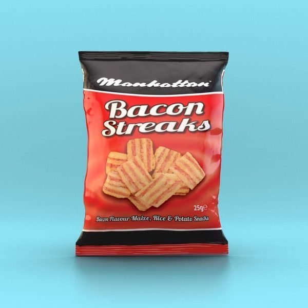 Manhattan Bacon Streaks - 12 x 25g Packets