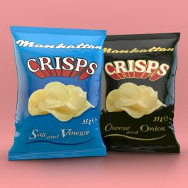 Mixed Crisps - 24 Cheese and Onion packets and 24 Salt and Vinegar packets
