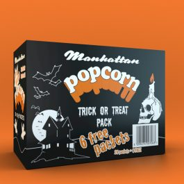 Manhattan Halloween Box 24 plus 6 free packets of 15g Salted Popcorn
