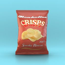 Manhattan Smoky Bacon Crisps - 32 x 35g packets