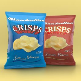 Manhattan Mixed Crisps - 24 Salt n Vinegar & 16 Smoky Bacon