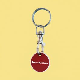 Manhattan One Euro Trolley Token with Keyring