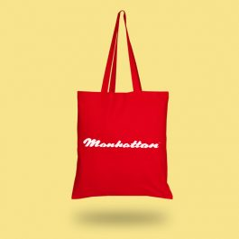Red Reusable Manhattan Bag made from recycled PP