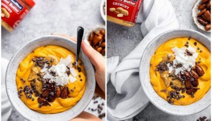 Pumpkin Peanut Butter Smoothie Bowl