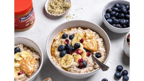 Banana Whipped Blueberry Oats